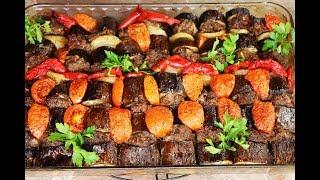 طريقة عمل كفتة بالباذنجان والخضار بالسمنة العربية وجبة غداء او عشاء سهلة ولذيذة  ( الحلقة 498 )