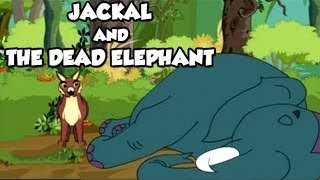 Tales of Panchatantra - Jackal And The Dead Elephant - Funny Animated Hindi Stories