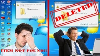 How To Delete A Folder That Won't Delete [SOLVED] Windows 7/8/10 Without Antivirus