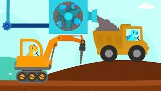Play and Learn about Dinosaurs and Trucks with Dinosaur Digger 3 Kids Game