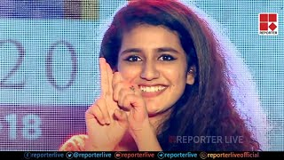 Priya Prakash Varrier's Flying Kiss and wink Live on stage