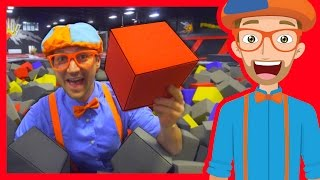 The Trampoline Park with Blippi | Learn Colors and more!