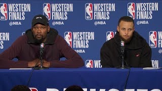 Steph Curry & Kevin Durant Postgame Interview - Game 6 | Rockets vs Warriors | 2018 NBA West Finals