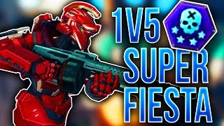 1v5 Super Fiesta Challenge! - Halo 5 Guardians
