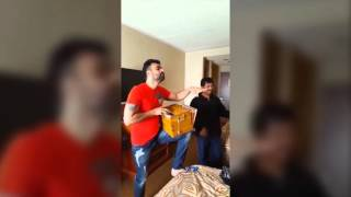 Babbu Maan Practising with Canadian Violinist and His band (having fun)