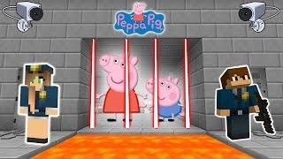 PEPPA PIG Y SU HERMANO GEORGE PRESOS (MINECRAFT PRISON ESCAPE)