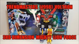 Trendmasters Voltron 3rd Dimension Mighty Lion Force Review! Bert the Stormtrooper Reviews!
