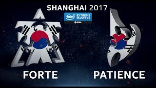 StarCraft 2 - Forte vs. Patience (TvP) - IEM Shanghai 2017 - Open Qualifier #1 Ro32