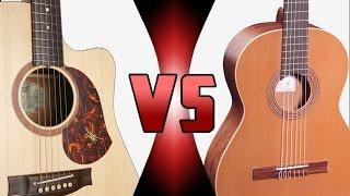 Cuerdas de Nylon vs Cuerdas de Acero | ¿Cuál es Mejor? - Comparación Guitarra (HD)