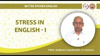 Stress in English I