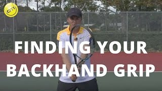 Tennis Grips: Finding Your Backhand Grip