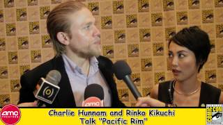 Charlie Hunnam and Rinko Kikuchi Talk Pacific Rim At Comic Con 2012