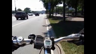 08/18/2013 Biking in Chicago Part1/2 - Busy downtown roads