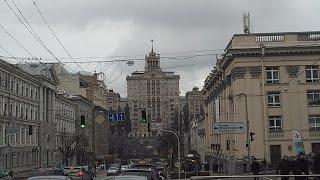Kiev, Bogdan Khmelnitsky Street, Metro Teatralna, 03.11.2017, Kyiv, Ukraine