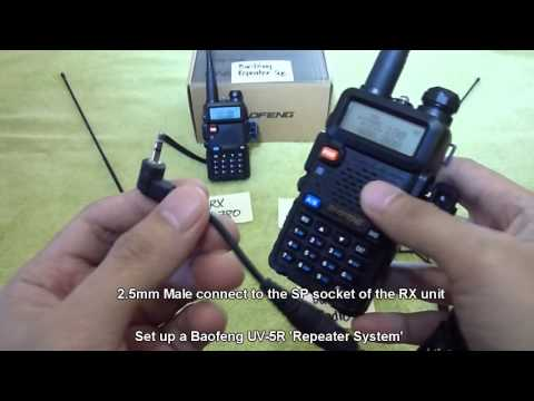Set up a Baofeng UV 5R Repeater System