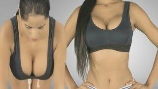 """Poonam Pandey"" Hot Style Yoga -  Breast Asana - Flaunts Cleavage & Butt"