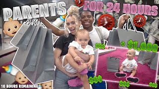 ME AND MY GIRLFRIEND BECAME PARENTS FOR 24 HOURS! *Took her on a shopping spree*