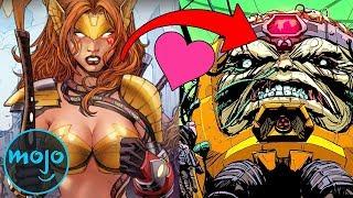 Top 10 Seriously Messed Up Superhero Romances