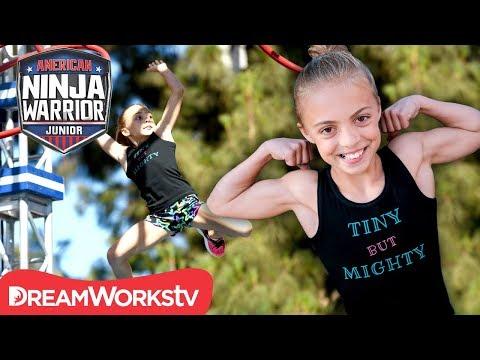 AMERICAN NINJA WARRIOR JUNIOR Tiny but Mighty BEAST MODE Gymnast Goes Far