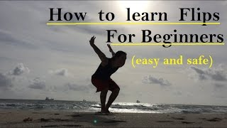 How to Learn Flips For Beginners  (SAFE AND EASY)