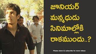 Telugu Actor Akkineni Nagarjuna and Akhil video for fans