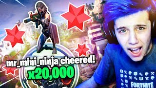 Fan CHALLENGED me to WIN for 20,000 BITS! (Fortnite Battle Royale)