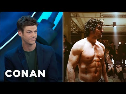 Stephen Amell Is So Buff He Intimidated Grant Gustin CONAN on TBS