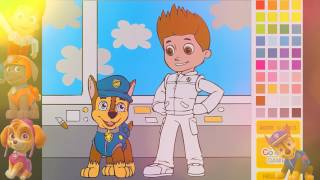 PAW PATROL All Pups BEST Way To Learn Colors Coloring Game Video Chase and Ryder 2017 EP 2
