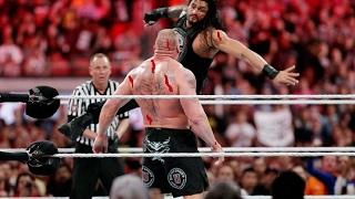 WWE Roman vs Dean Vs Brock Lesnar HD Monday night row 9/1/2017