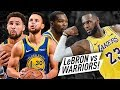 Warriors Team Met NEW LAKERS LeBron James! EPIC Battle Highlights (2018.10.10) - MUST WATCH