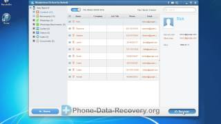 How to Recover Deleted Contacts on Sony Xperia E by Dr.Fone for Android?