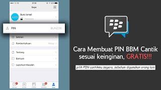 Cara Membuat PIN BBM Cantik Sesuai Keinginan Di Iphone Dan Android Secara Gratis Tanpa Ribet