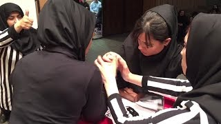 Women's Arm Wrestling Is Iran's Newest Sport