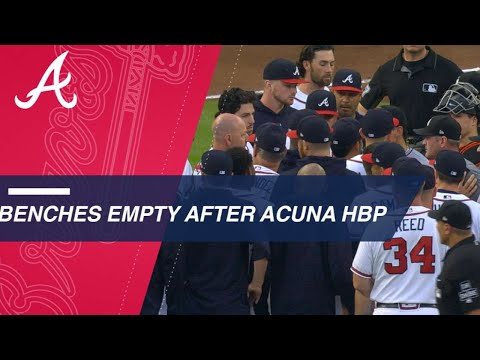 Xxx Mp4 Benches Clear After Ronald Acuna Jr Is Hit By A Pitch From Jose Urena 3gp Sex