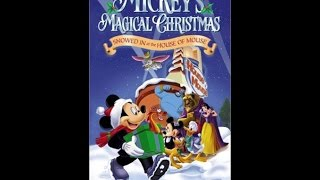 Opening to Mickey's Magical Christmas Snowed in at the House of Mouse 2001 VHS