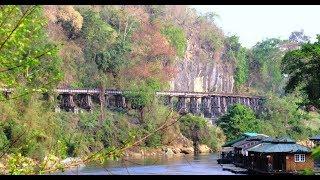 Thailand the River Kwai Death Railway Tham Kra Sae Trestle Bridge Krasse รถไฟแห่งความตายริเวอร์แคว