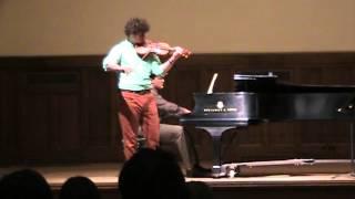 Alan Snow, Sibelius violin concerto- Vadim Gluzman Master Class at IU