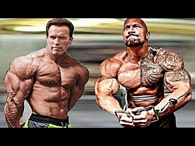The Rock Training With Arnold Schwarzenegger | Workout 2017