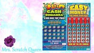 $5 Wild Cash Bonanza & $5 Easy Money ~ Texas Lottery Scratch Offs!