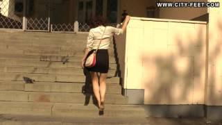 City-Feet.com - A girl in an office dress - Ksenia [4]