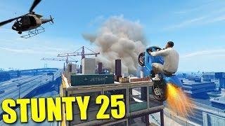 Grand Theft Auto 5 - STUNTY - PRISTÁVAM NA ŽERIAV #25