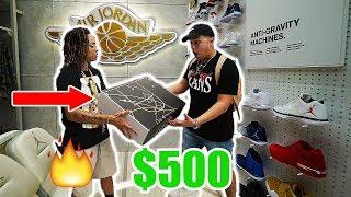 THE $500 JORDAN STORE CHALLENGE!! **Gave Me Limited Jordans**