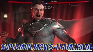 Injustice 2 Beta Superman All Moves and Frame Data