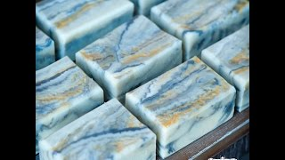 The Making and Cutting of Marble Wave Soap