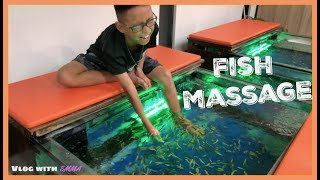 First Time Riding The TUK TUKS & Fish Massage | Vlog With Emma
