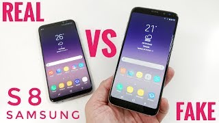 FAKE vs REAL Samsung Galaxy S8 - 1:1 Clone - Buyers BEWARE!