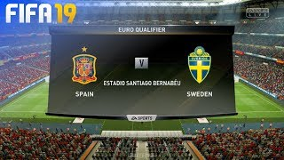 FIFA 19 - Spain vs. Sweden @ Estadio Santiago Bernabéu