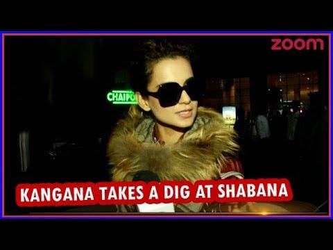 Kangana Takes A Dig At Shabana & Supports Deepika For 'Padmavati' Row   Bollywood News
