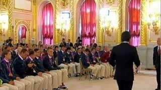 Russian President Putin Hosted a KREMLIN AWARDS CEREMONY Honoring London 2012 Golden Paralympians