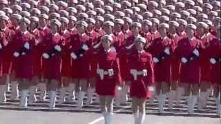 Precision Marching Girls Chinese Army March Past